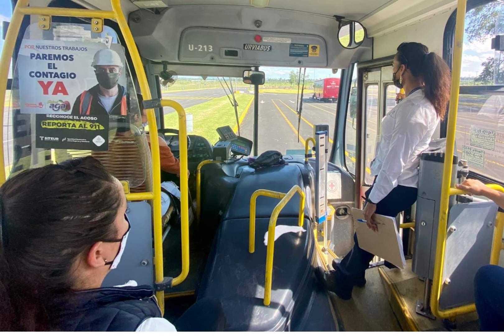Transporte público, Cubrebocas, Defoe